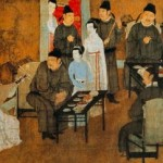 Han Xizai's Evening Banquet painted by Gu Hongzhong.