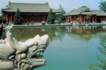 Nine Dragon Pond in Lintong, Shaanxi province - scenic garden built on the original site of Tang Dynasty temporary palace