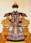 Portraits of a queen of the Qing Dynasty. (Part of Portraits of Emperors and Queens of the Qing Dynasty colleted by Beijing Palace Museum)